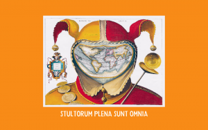 Fools cap world map - f88c18 + stultorum plena sunt omnia