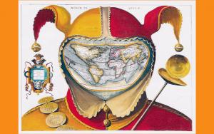 Fools cap world map - f88c18