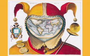 Fools cap world map - f7b535