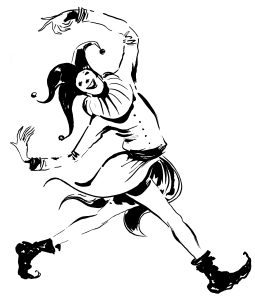 Fool illustration black - walking