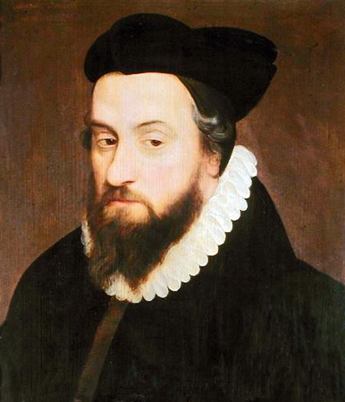 Portrait of Laurent Joubert (1529-1583) (oil on panel) Musee d'Histoire de la Medecine, Paris, public domain