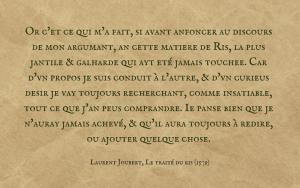 Quotation Laurent Joubert - Traité du Ris - French text