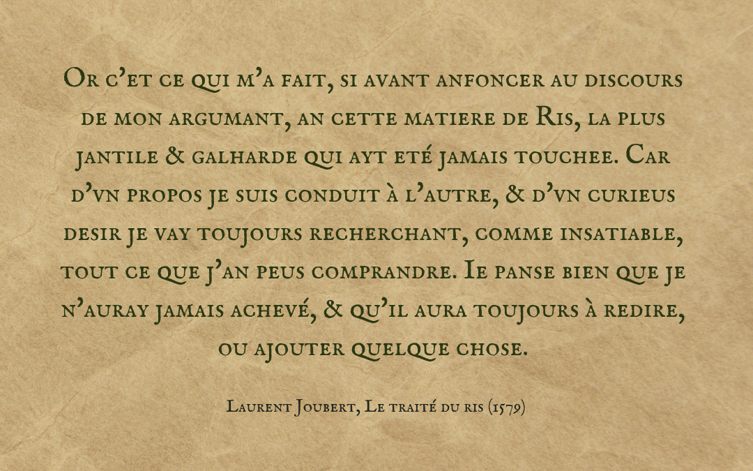 Quotation Laurent Joubert - Traité du Ris - French text