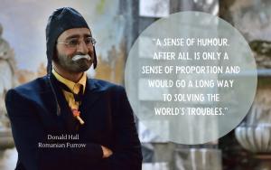 Donald Hall - Romanian Furrow - quotation on humour