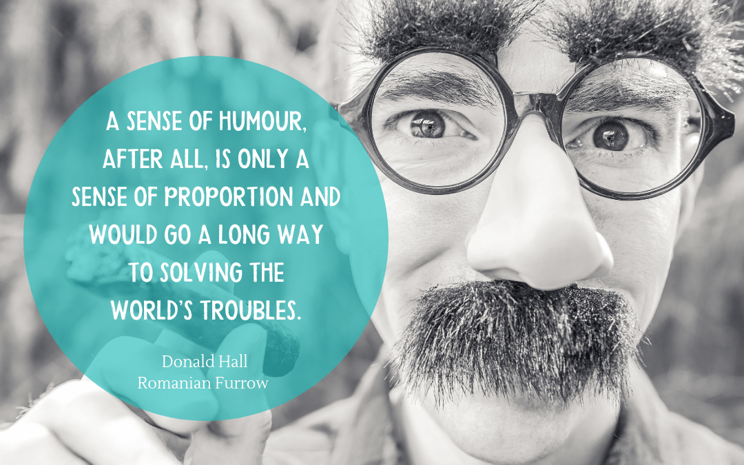 Donald Hall - Romanian Furrow - quotation on humour