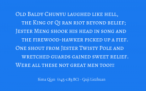 Sima Qian - Records of the Historian - jesters