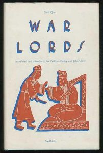 book cover - Sima Qian - War Lords Dolby+Scott 1