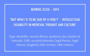 Fools bibliography - Buhrer Eliza