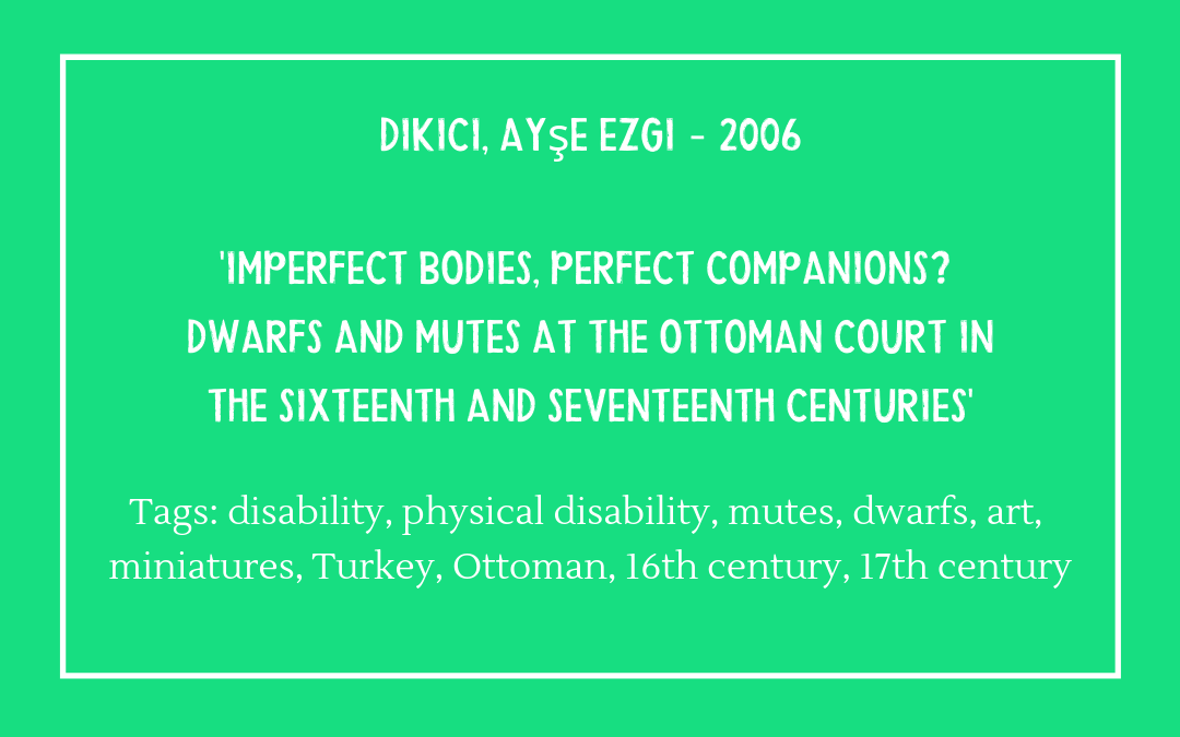Dikici, Ayşe Ezgi – Imperfect Bodies, Perfect Companions?