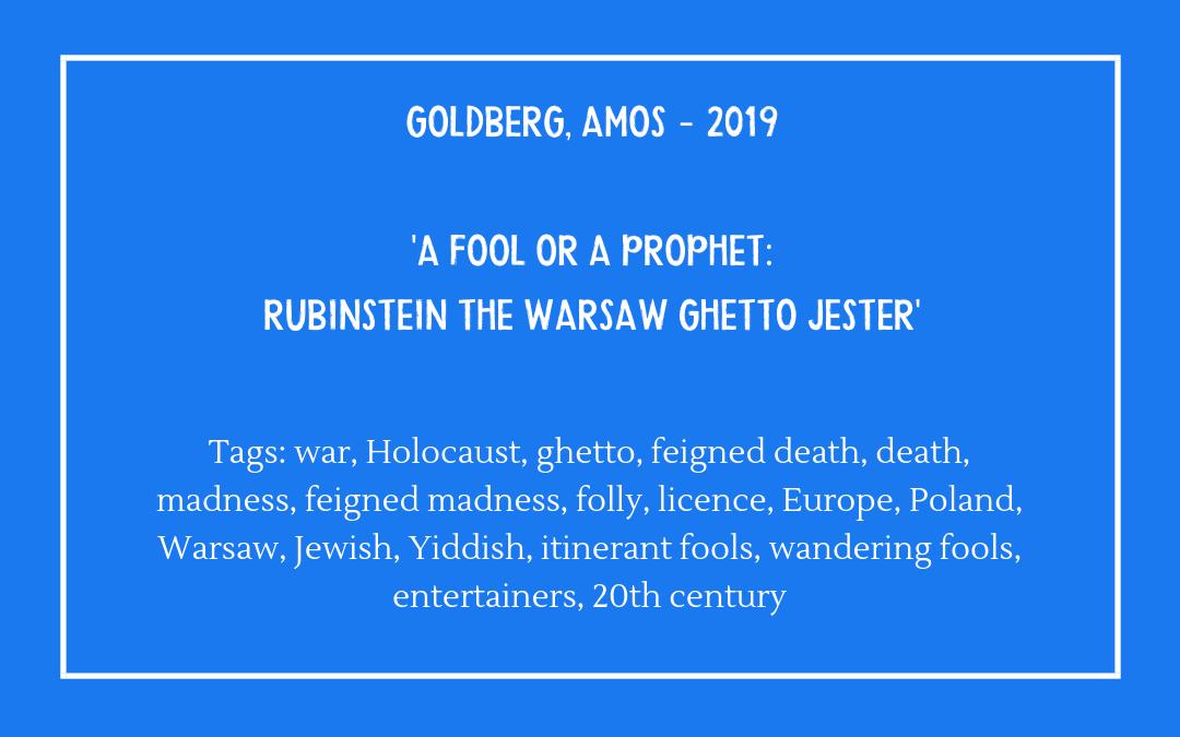 Bibliography - Goldberg Amos 2019