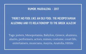 Bibliography - Rumor Maddalena 2017