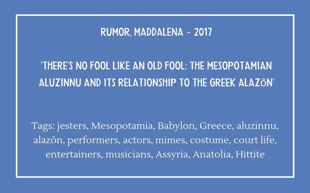 Rumor, Maddalena – 'There's No Fool Like An Old Fool'
