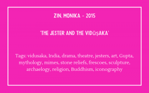 Fools Bibliography - Monika Zin on Vidusaka and jesters