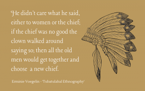 Tubatulabal clowns on choosing a new chief