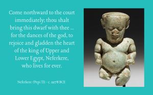 Pharaoh Neferkere (Pepi II) on a dancing dwarf
