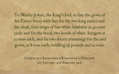 A fool in fur-lined cloaks