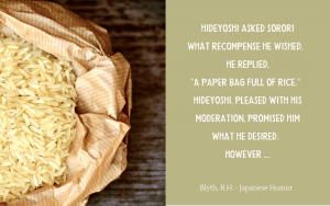Japanese jester Sorori and Hideyoshi story