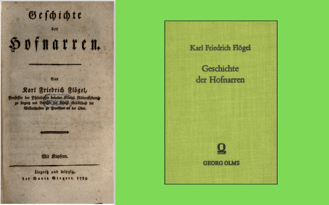 Book cover and title page - Flögel - Geschichte der Hofnarren