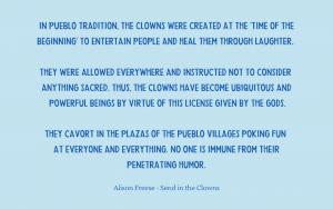 Quotation - Alison Freese - Pueblo clowns