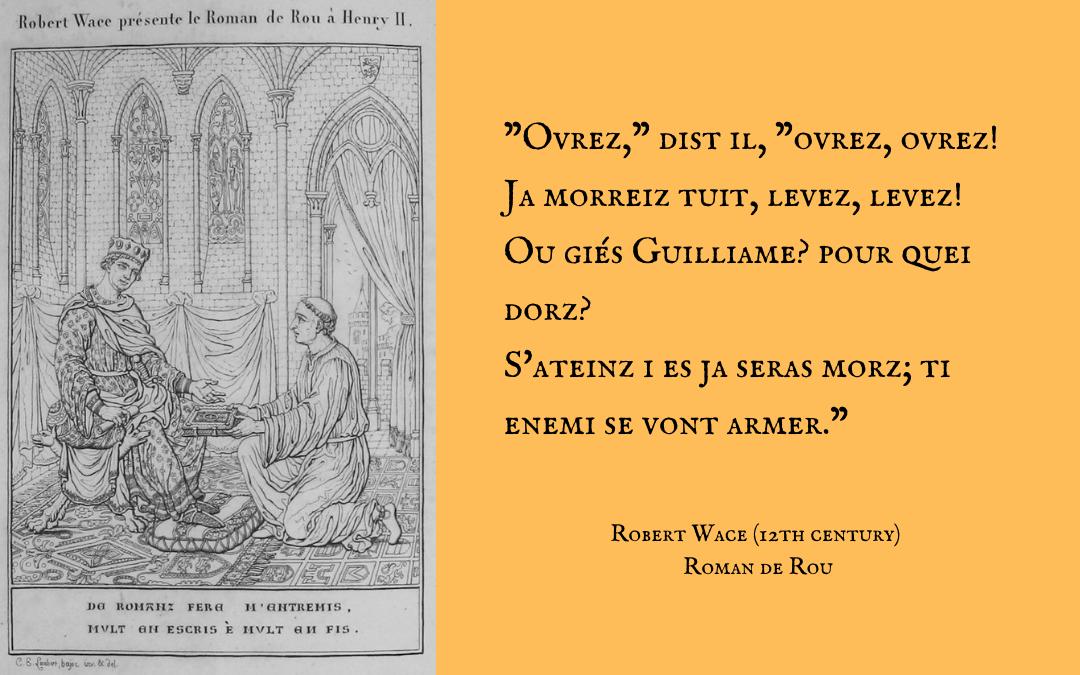 Quotation - Robert Wace - Roman de Rou
