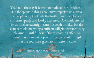 Quotation - Erasmus - Praise of Folly