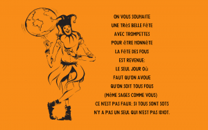 Quotation - Beatrice Otto - April Fools Day ditty French Français