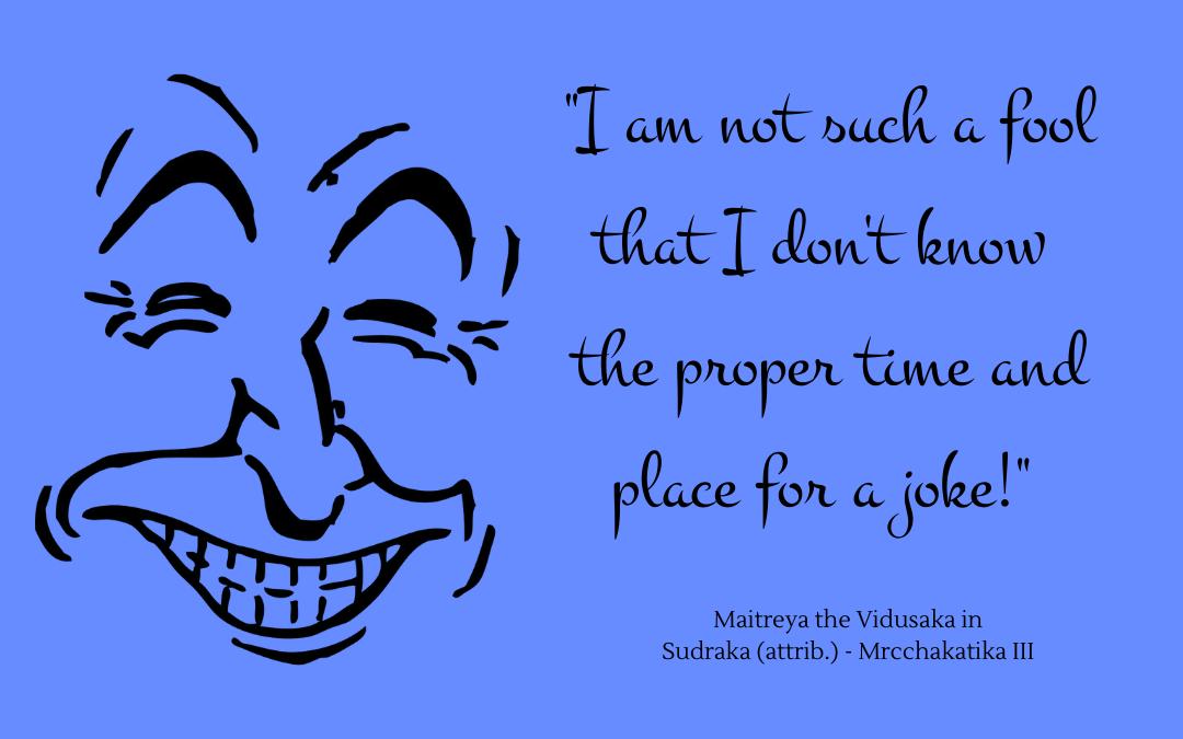 Quotation - Mrcchakatika by Sudraka