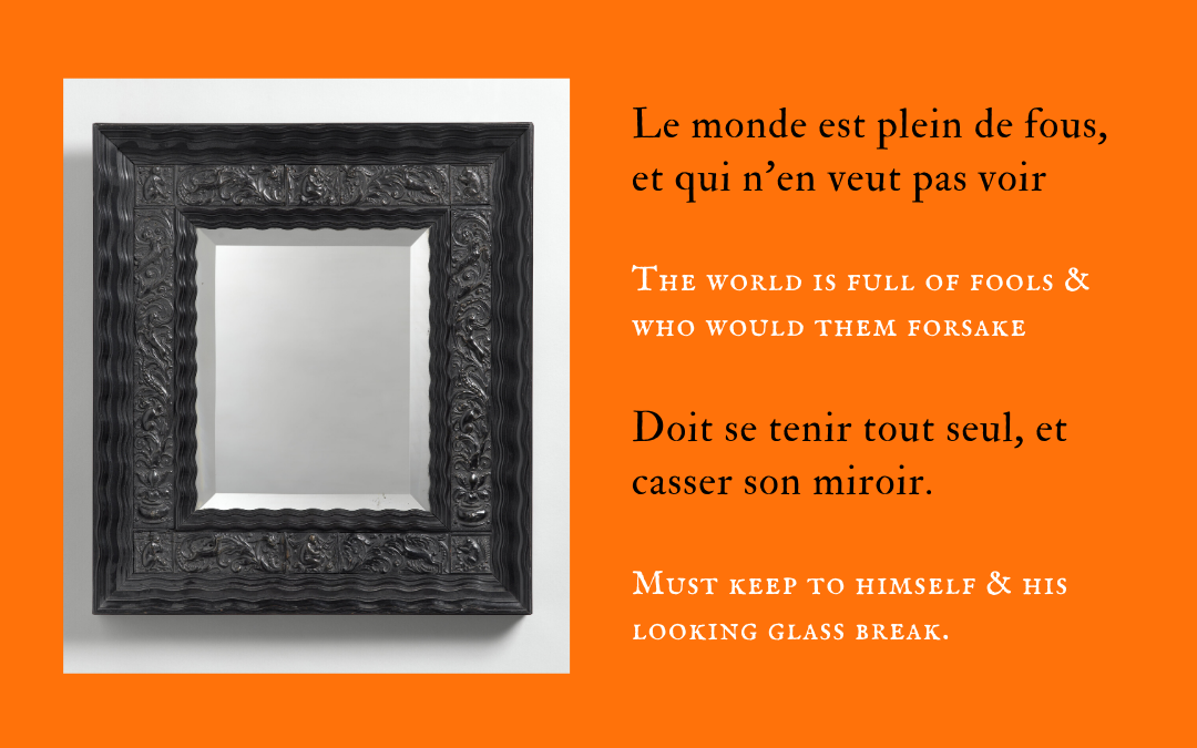 The mirror of fools