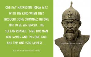 Quotation - Nasrudin to Tamerlane