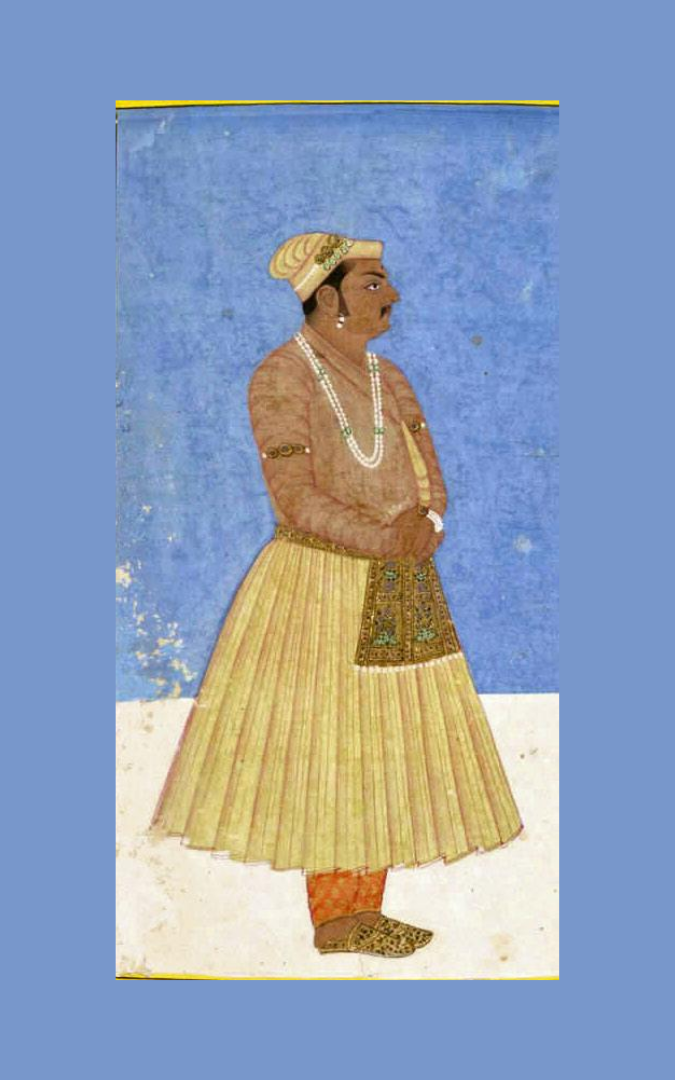 Painting of Raja Birbal jester to Akbar - public domain