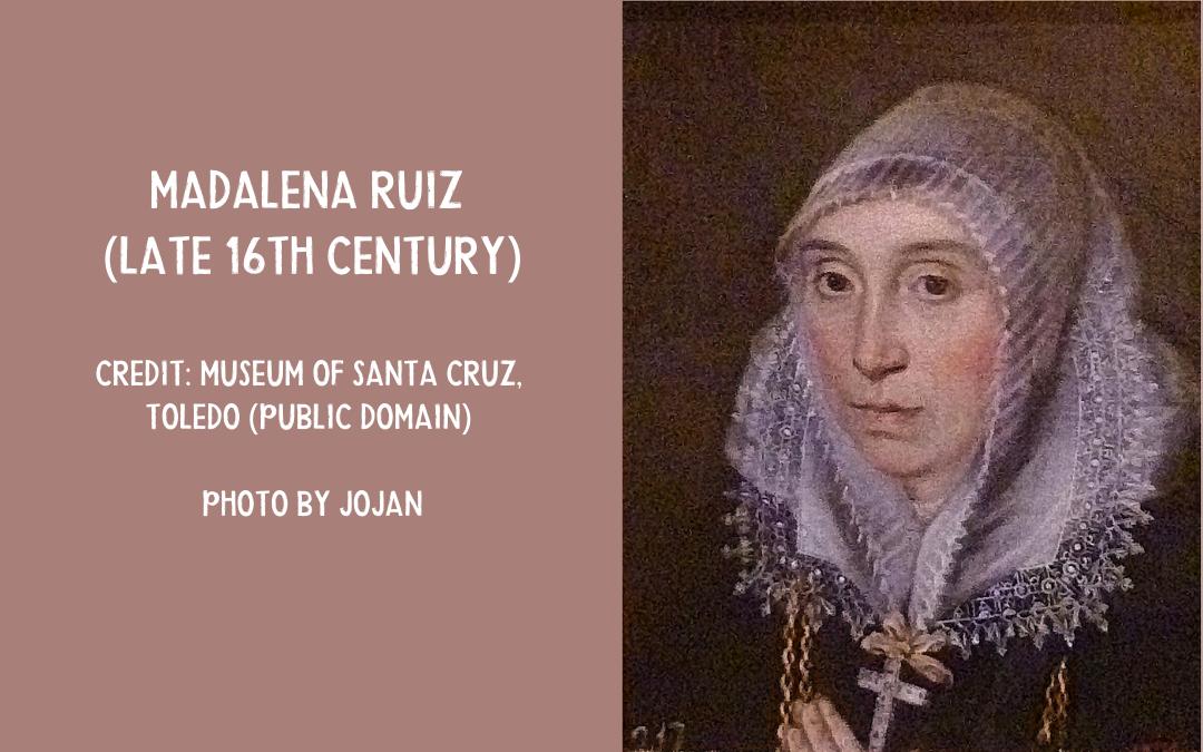 Painting Madalena Ruiz dwarf jester court of Philip II