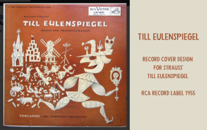Cover design - LP Strauss Till Eulenspiegel