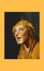 Painting jester in a fool's cap by Cornelis Cornelisz