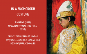 Painting Russian skomorokh