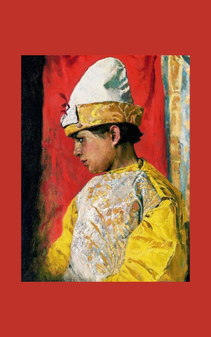 Credit: The Costume of the Skomorokh (В костюме скомороха) (1882), Apollinary Vasnetsov (1856-1933), The Museum of Sunday (Музее «Воскресного дня»), Moscow, public domain