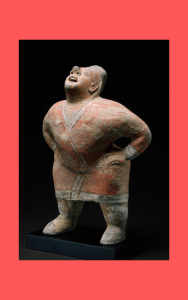 Chinese tomb figure of an entertainer