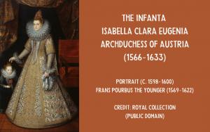 Painting Isabella Clara Eugenia and Madalena Ruiz