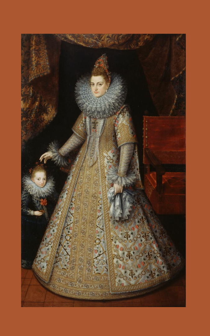 Credit: Portrait of The Infanta Isabella Clara Eugenia (1566-1633), Archduchess of Austria, attributed to Frans Pourbus the Younger (1569-1622), Royal Collection, RCIN 407377, public domain