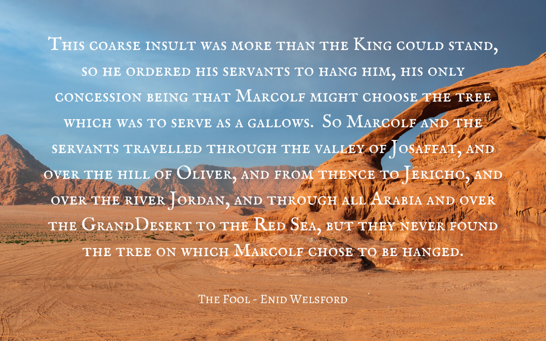 Quotation Marcolf & Solomon - Enid Welsford
