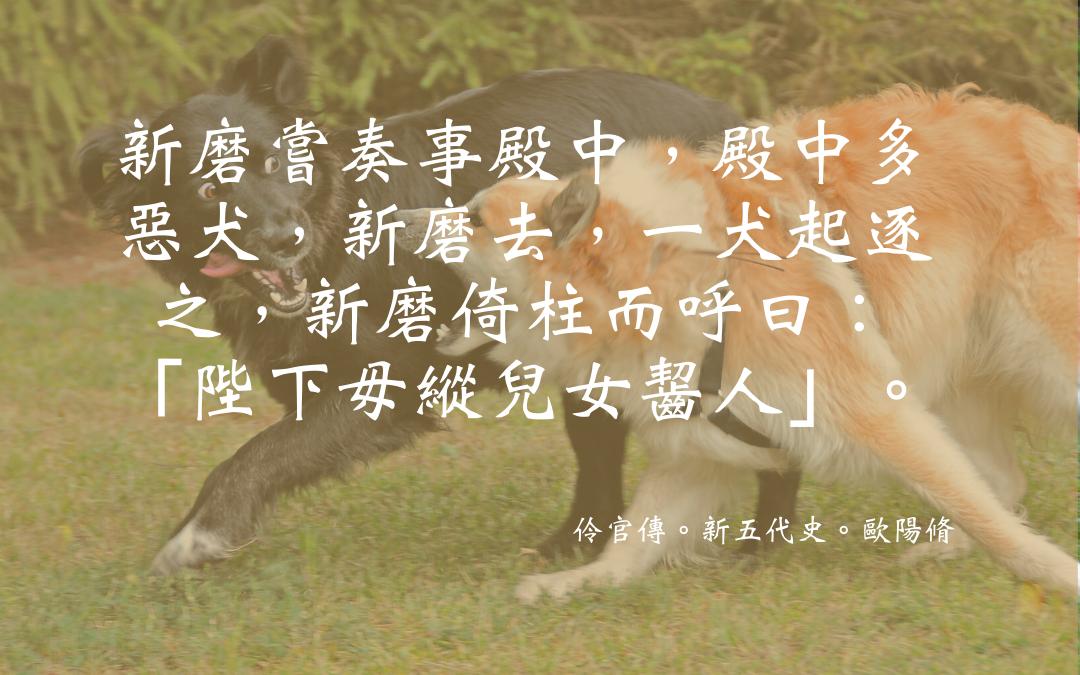 Source: `Lingguan zhuan' 伶官傳, in Xin Wudai shi 新五代史, by Ouyang Xiu 歐陽脩 (1007-72) and others, fol. 37, Siku Quanshu 四庫全書