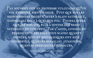 Quotation - Rabelais - Tiers Livre