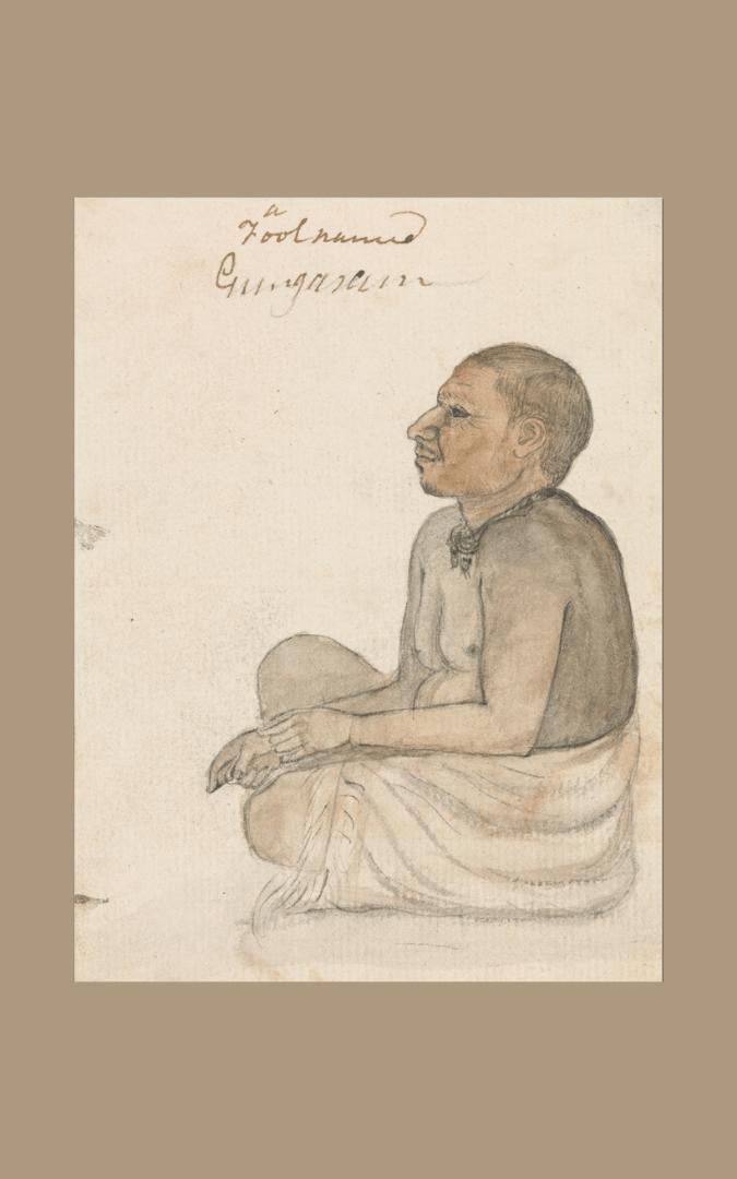 Credit: A Fool Named Gungarum (c. 1790), Gangaram Chintaman Tambat (fl. c. 1790), Yale Center for British Art, Paul Mellon Collection, B1977.14.22249, public domain