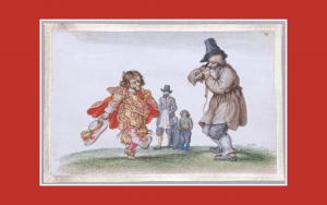 Painting - Adriaen van der Venne dancing dwarf