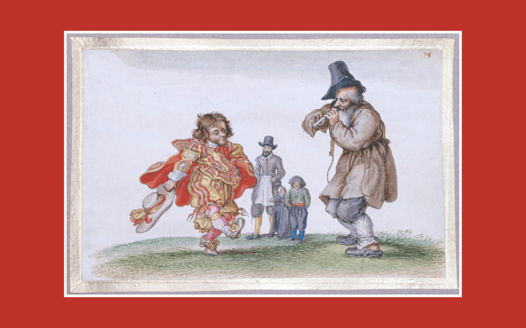 Credit: Untitled (A dancing dwarf and a peasant piper) (1620-26), Adriaen van de Venne (1589-1652); © Trustees of the British Museum, CC BY-NC-SA 4.0