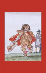 Painting - Adriaen van der Venne dancing dwarf detail