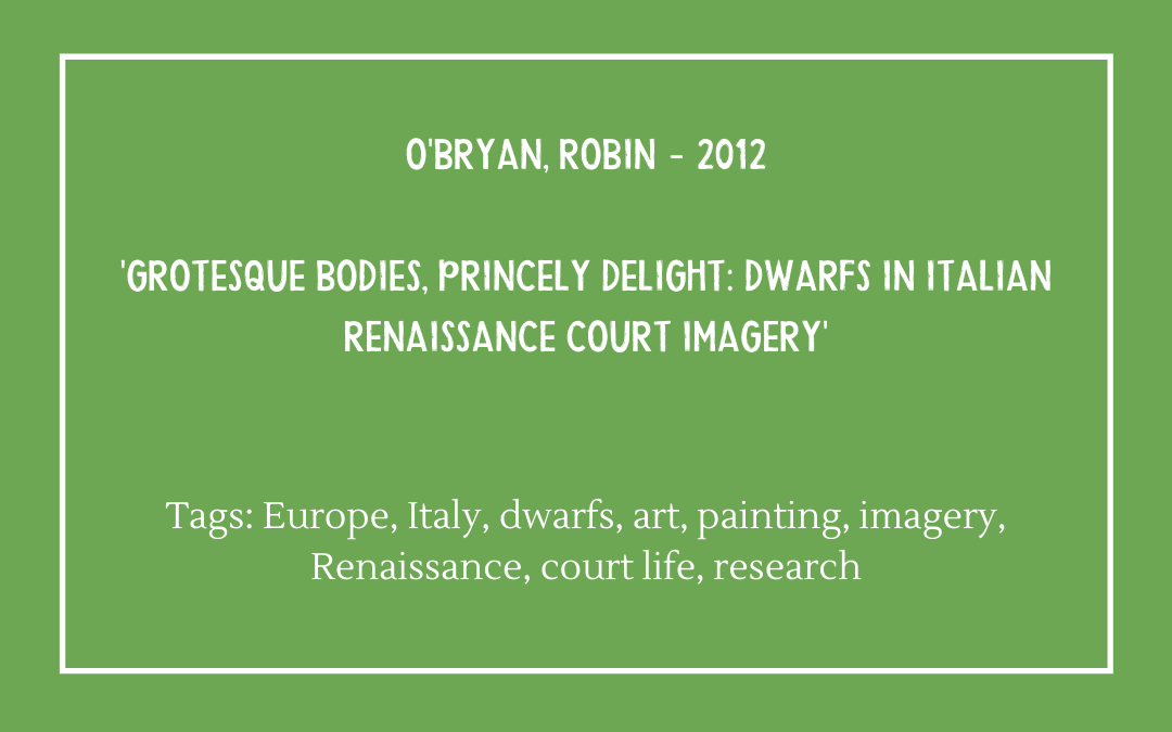 Review of 'Grotesque Bodies' by Robin O'Bryan (2012)