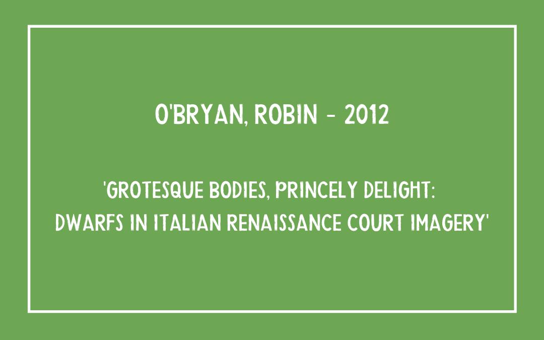 O'Bryan Robin – Grotesque Bodies