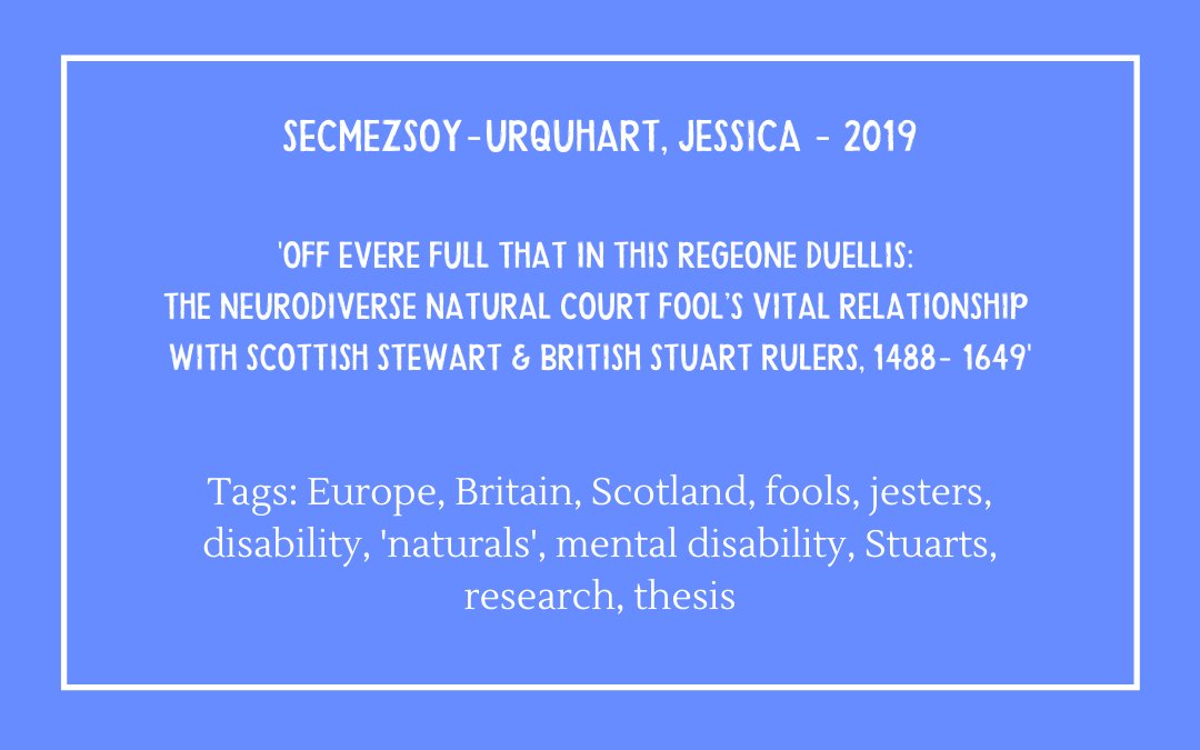 Review of Jessica Secmezsoy-Urquhart, 'Off Evere Full that in this Regeone Duellis'