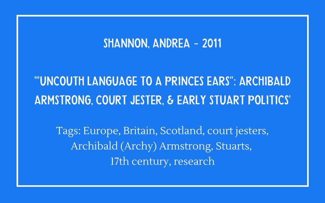 Review of Andrea Shannon, 'Uncouth Language to a Prince's Ear'