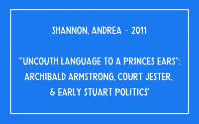 Andrea Shannon – Uncouth language to a prince's ear